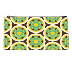 Blue Yellow Flowers Pattern 	pencil Case by LalyLauraFLM