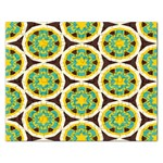 Blue yellow flowers pattern 			Jigsaw Puzzle (Rectangular) Front
