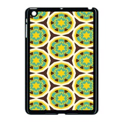 Blue Yellow Flowers Pattern 			apple Ipad Mini Case (black) by LalyLauraFLM