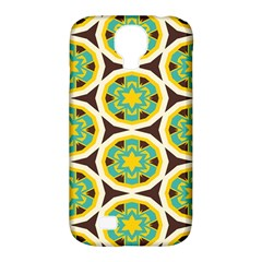Blue Yellow Flowers Pattern 			samsung Galaxy S4 Classic Hardshell Case (pc+silicone) by LalyLauraFLM