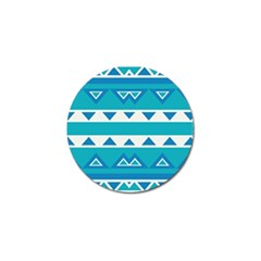 Blue Triangles And Stripes  			golf Ball Marker by LalyLauraFLM