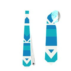 Blue Triangles And Stripes  Necktie