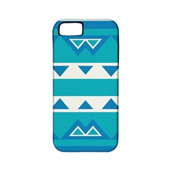 Blue Triangles And Stripes  			apple Iphone 5 Classic Hardshell Case (pc+silicone) by LalyLauraFLM