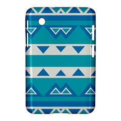 Blue Triangles And Stripes  			samsung Galaxy Tab 2 (7 ) P3100 Hardshell Case by LalyLauraFLM