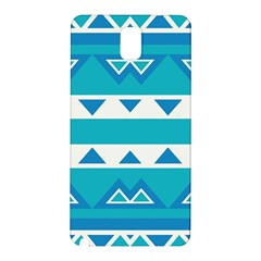 Blue Triangles And Stripes  			samsung Galaxy Note 3 N9005 Hardshell Back Case by LalyLauraFLM