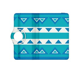 Blue Triangles And Stripes  kindle Fire Hdx 8 9  Flip 360 Case by LalyLauraFLM