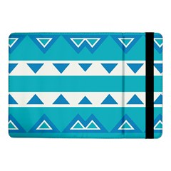 Blue Triangles And Stripes  			samsung Galaxy Tab Pro 10 1  Flip Case by LalyLauraFLM