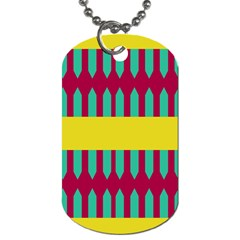 Stripes And Other Shapes   			dog Tag (one Side) by LalyLauraFLM
