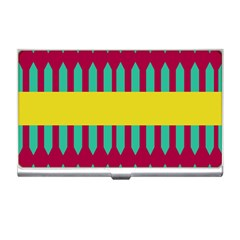 Stripes And Other Shapes   			business Card Holder by LalyLauraFLM