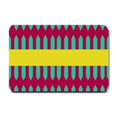 Stripes And Other Shapes   			small Doormat by LalyLauraFLM