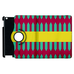 Stripes And Other Shapes   			apple Ipad 3/4 Flip 360 Case by LalyLauraFLM