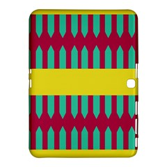 Stripes And Other Shapes   samsung Galaxy Tab 4 (10 1 ) Hardshell Case by LalyLauraFLM