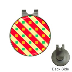 Squares And Stripes    golf Ball Marker Hat Clip by LalyLauraFLM