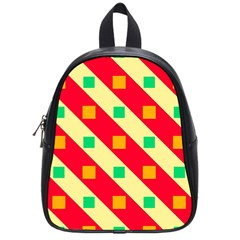 Squares And Stripes    school Bag (small) by LalyLauraFLM