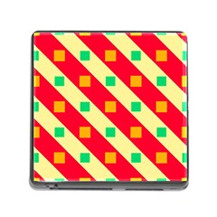 Squares And Stripes    			memory Card Reader (square) by LalyLauraFLM