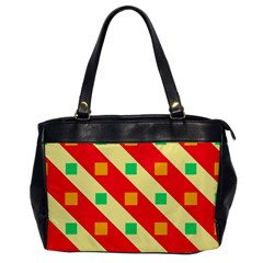 Squares And Stripes    			oversize Office Handbag by LalyLauraFLM