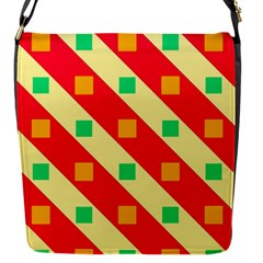 Squares And Stripes    			flap Closure Messenger Bag (s) by LalyLauraFLM