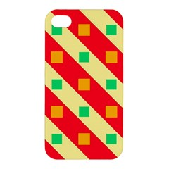 Squares And Stripes    			apple Iphone 4/4s Premium Hardshell Case by LalyLauraFLM