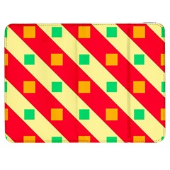 Squares And Stripes    			samsung Galaxy Tab 7  P1000 Flip Case by LalyLauraFLM