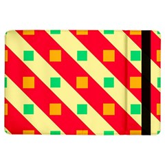 Squares And Stripes    apple Ipad Air Flip Case by LalyLauraFLM