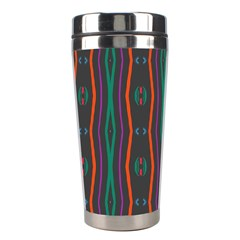 Wavy Chains Pattern     Stainless Steel Travel Tumbler by LalyLauraFLM