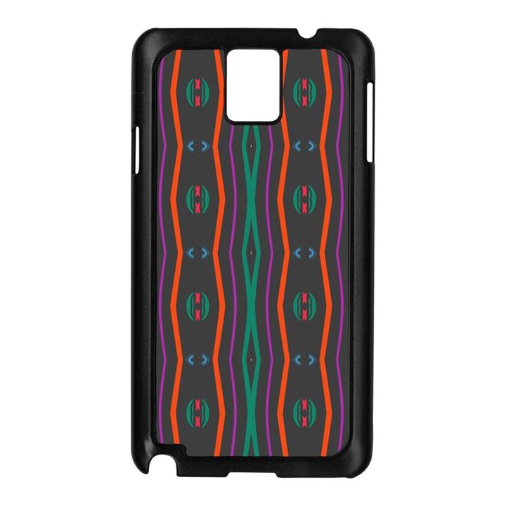 Wavy chains pattern     Samsung Galaxy Note 3 N9005 Case (Black)