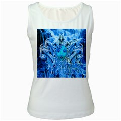Medusa Metamorphosis Women s White Tank Top by icarusismartdesigns