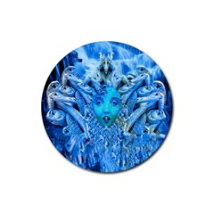 Medusa Metamorphosis Rubber Round Coaster (4 Pack)  by icarusismartdesigns