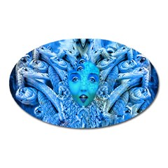 Medusa Metamorphosis Oval Magnet by icarusismartdesigns