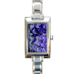 Blue Theater Drama Comedy Masks Rectangle Italian Charm Watch by BrightVibesDesign