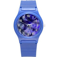 Blue Theater Drama Comedy Masks Round Plastic Sport Watch (s) by BrightVibesDesign