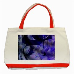 Blue Theater Drama Comedy Masks Classic Tote Bag (red) by BrightVibesDesign