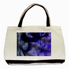 Blue Theater Drama Comedy Masks Basic Tote Bag (Two Sides)