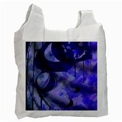 Blue Theater Drama Comedy Masks Recycle Bag (Two Side)