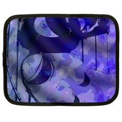 Blue Theater Drama Comedy Masks Netbook Case (xl)  by BrightVibesDesign