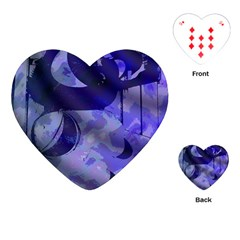 Blue Theater Drama Comedy Masks Playing Cards (Heart)