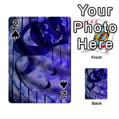 Blue Theater Drama Comedy Masks Playing Cards 54 Designs  by BrightVibesDesign