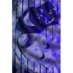 Blue Theater Drama Comedy Masks 5.5  x 8.5  Notebooks