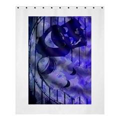 Blue Theater Drama Comedy Masks Shower Curtain 60  X 72  (medium)  by BrightVibesDesign