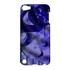 Blue Theater Drama Comedy Masks Apple Ipod Touch 5 Hardshell Case by BrightVibesDesign