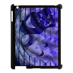 Blue Theater Drama Comedy Masks Apple Ipad 3/4 Case (black) by BrightVibesDesign