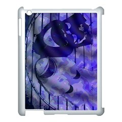 Blue Theater Drama Comedy Masks Apple Ipad 3/4 Case (white) by BrightVibesDesign