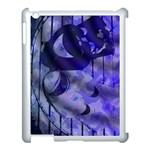 Blue Theater Drama Comedy Masks Apple iPad 3/4 Case (White)