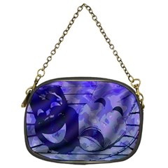 Blue Comedy Drama Theater Masks Chain Purses (one Side)