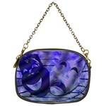 Blue Comedy Drama Theater Masks Chain Purses (One Side)  Front