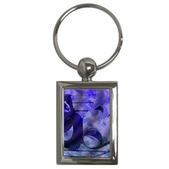 Blue Comedy Drama Theater Masks Key Chains (rectangle)  by BrightVibesDesign