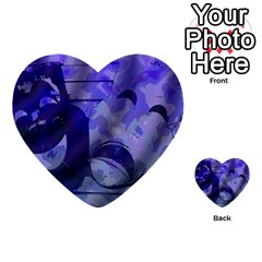 Blue Comedy Drama Theater Masks Multi Purpose Cards (heart)