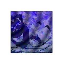 Blue Comedy Drama Theater Masks Satin Bandana Scarf by BrightVibesDesign