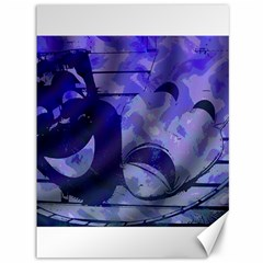 Blue Comedy Drama Theater Masks Canvas 36  X 48   by BrightVibesDesign