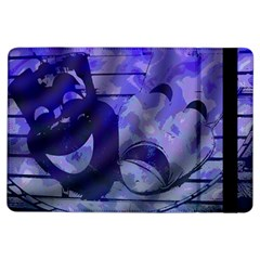 Blue Comedy Drama Theater Masks Ipad Air Flip by BrightVibesDesign